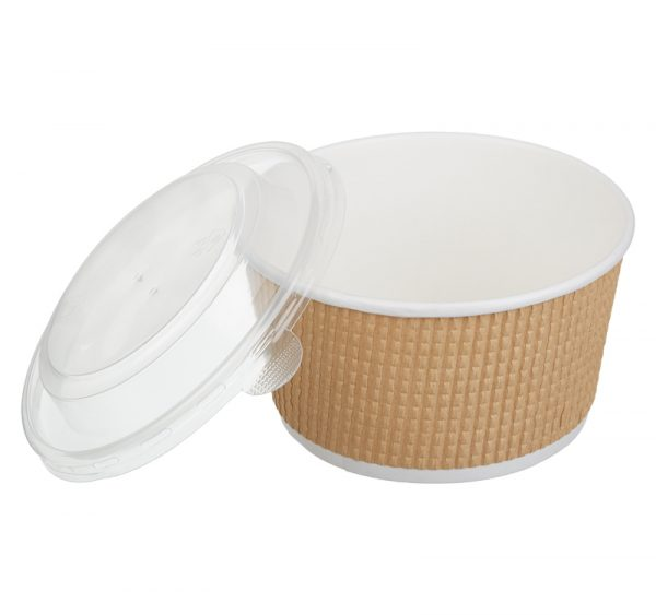 Pokrov PP za papirnato posodico Tambien 720 ml d=135 mm (50 kos/pak)