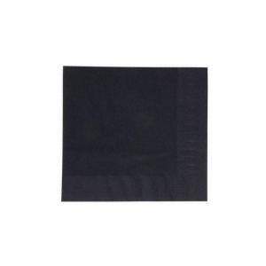 Papirnati prtički 2 sl 33×33 cm Duni črni 125 l/pak