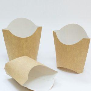 Žepek za krompirček 32x68x100 mm kraft (100 kos/pak)