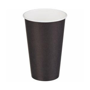 Papirnat kozarec za tople napitke 400 (518) ml črn (50 kos/pak)