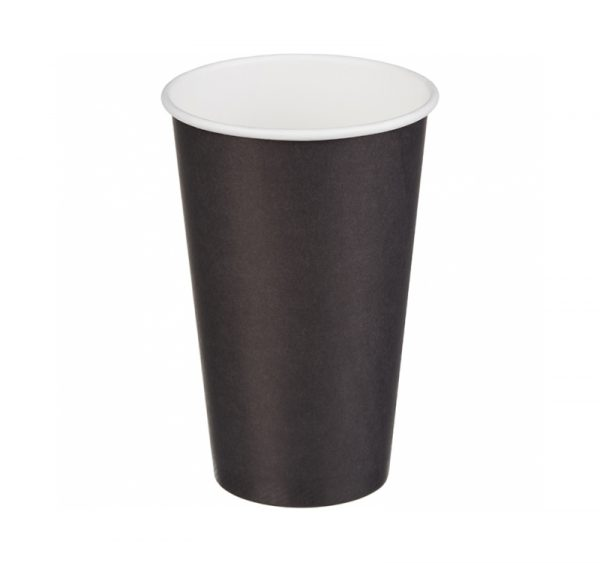 Papirnat kozarec 400 ml d=90 mm 1-slojni črn (50 kos/pak)