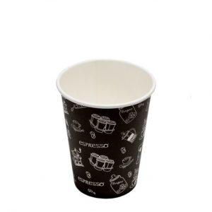 Papirnat kozarec za tople napitke 300 ml črn