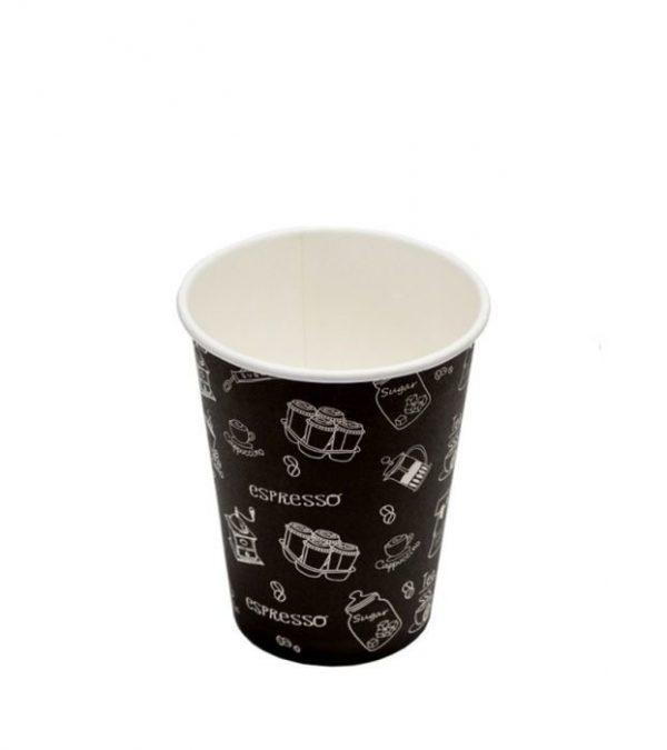 Papirnat kozarec 300 ml d=90  mm 1-slojni črn Complement (50 kos/pak)
