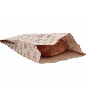 Papirnata vrečka 200х50х320 mm kraft, motiv kruh (500 kos/pak)