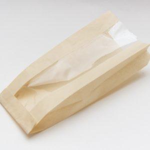 Papirnata vrečka z oknom 170(110)х80х200 mm kraft (1200 kos/pak)