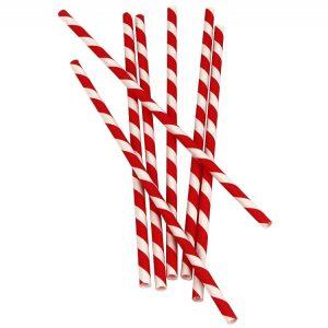Slamice papirnate Lollipop l=210 mm d=6 mm 25 kos/pak