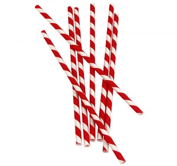 Papirnate slamice Lollipop l=210 mm d=6 mm (25 kos/pak)