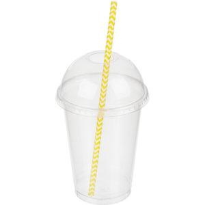 Slamice papirnate Tambien ECO Zic Zak l=210 mm d=6 mm 100 kos/pak