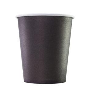 Papirnat kozarec 250 ml d=80 mm 1-slojni črn (75 kos/pak)