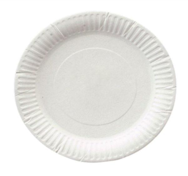 Papirnat krožnik d=200 mm bel glaziran (1300 kos/pak)