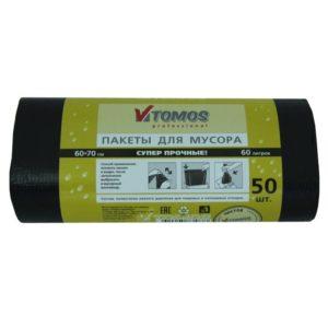 Vrečke za smeti 60L LDPE črne, 50 kos/pak TOMOS