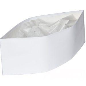 Papirnata kapa pilotka, ToMoS, bela, 100kos