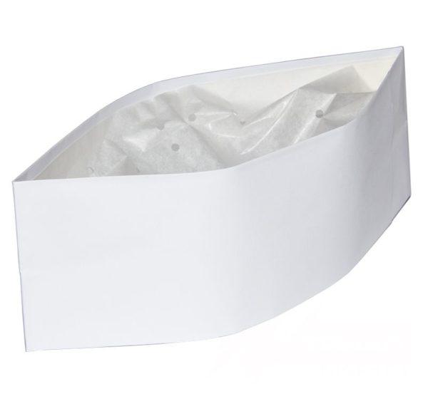 Papirnata kapa pilotka, ToMoS, bela, 100kos/pak