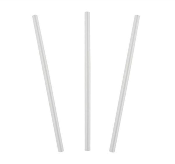 Slamice za koktejle, ravne, d = 8 mm, l = 240 mm, prozorne, 250 kos/pak