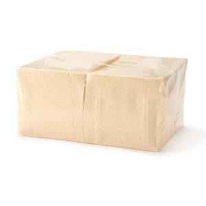 Papirnati prtički, 1 sl, 24 x 24, 400 l/pak Tambien, sampanjec barva