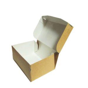 Papirnata posoda, ECO TABOX, brez okna, 150 x 100 x 70 mm, 1200 ml, kraft (250 kos/pak)