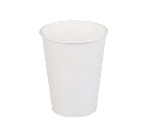 Papirnat kozarec 1 sl, 350 / 375 ml, d = 90 mm, za vroče, beli (50 kos/pak)