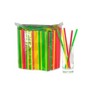 Slamice plastične l=210 mm d=8 mm večbarvne 250 kos/pak