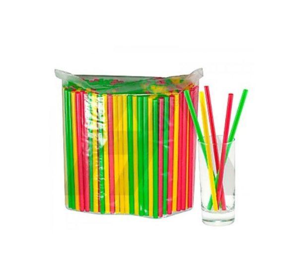 Slamice plastični l=210 mm d=8 mm večbarvne 250 kos/pak