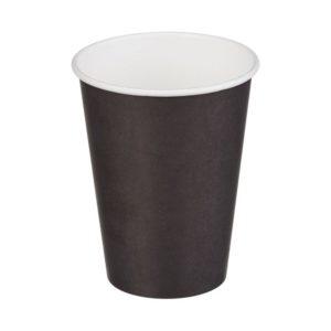 Papirnat kozarec 370 ml d=90 mm 1-slojni črni (50 kos/pak)