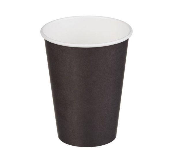 Papirnat kozarec 1 sl, 370 / 420 ml, d = 90 mm, za vroče, črni (50 kos/pak)