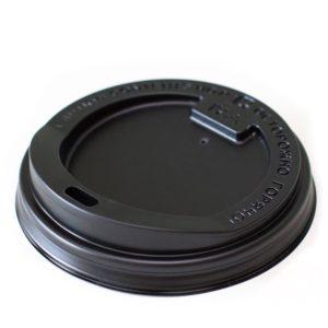 Pokrov z luknjo PS d=80 mm črni