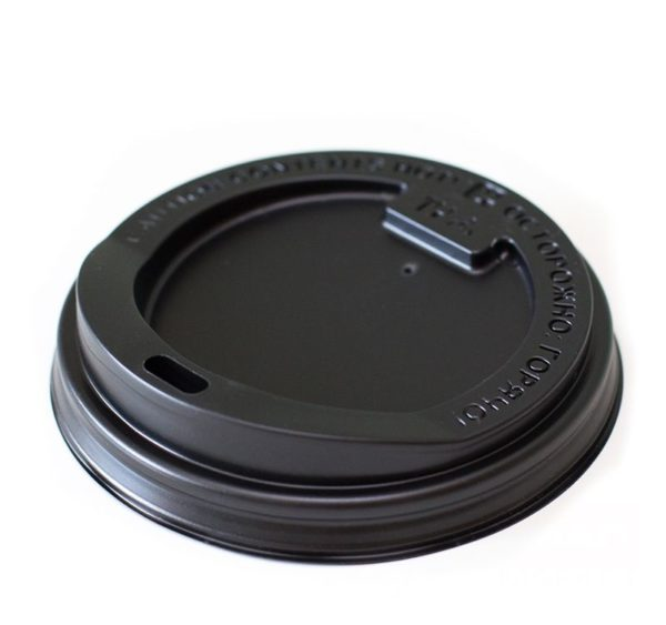 Pokrov s stransko luknjo PS, d = 80 mm, črni (100 kos/pak)