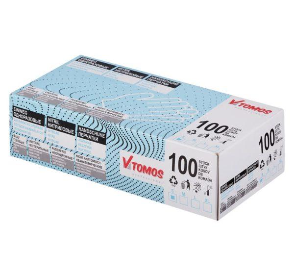 Rokavice brez pudra ToMoS ,100 kos/pak, modre S