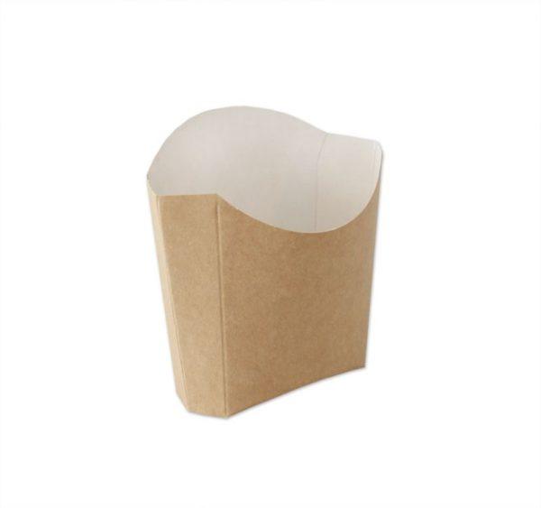 Žepek za krompirček Ecoline 80x110x35 mm kraft (500 kos/pak)
