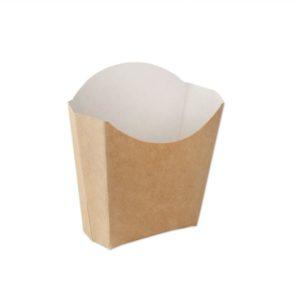 Žepek za krompirček Ecoline 34x75x102 mm kraft (500 kos/pak)