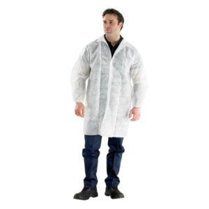 Zašćitna obleka iz netkanega materiala, L 52-54, bela, 5 kos/pak