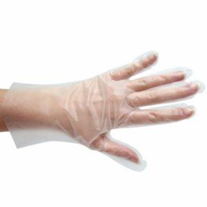 Rokavice za enkratno uporabo termoplastični elastomer, brez pudra Tomos 100 kos S