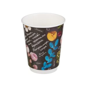 Papirnat kozarec za tople napitke 300 (380) ml dvoslojen FLEUR DI CAFE (20 kos/pak)