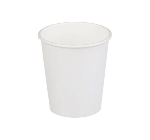 Papirnat kozarec 1 sl, 250 / 280 ml, d = 80 mm za vroče, beli (75 kos/pak)