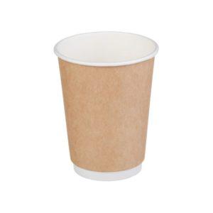 Papirnat kozarec 2 sl, 300 / 430 ml, d = 90 mm, kraft (25 kos/pak)