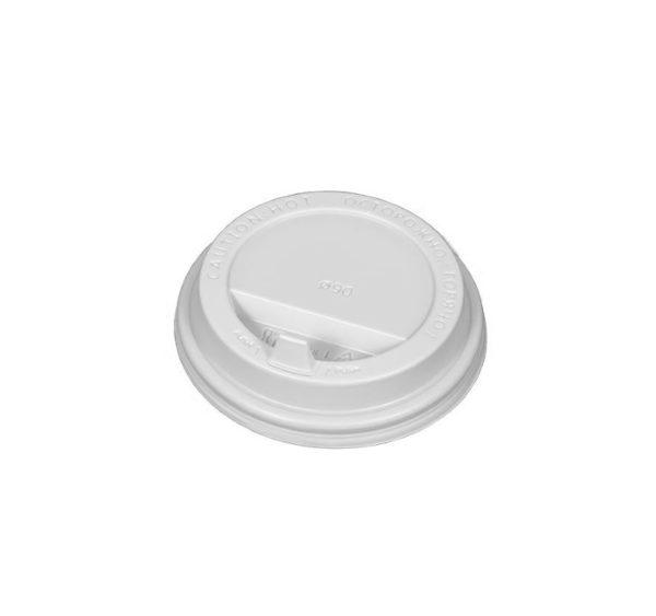 Pokrov z zaklopom PS d=90 mm bel (100 kos/pak)