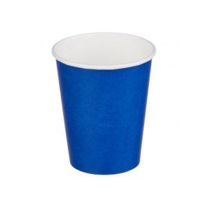 Papirnat kozarec 1 sl, 250 (273) ml, d = 80 mm za vroče, modr (50 kos/pak)
