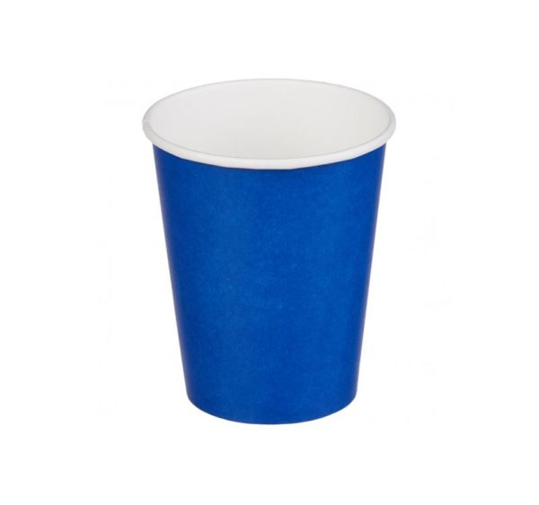 Papirnat kozarec 250 ml d=80 mm 1-slojni modri (50 kos/pak)