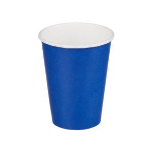 Papirnat kozarec 1 sl, 300 (364) ml, d = 80 mm za vroče, modr (50 kos/pak)
