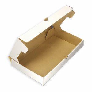 Papirnato škatlo 33 x 23 cm bela karton (50 kos/pak)