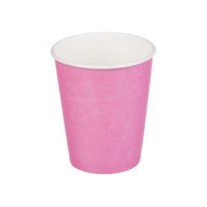 Papirnat kozarec 1 sl, 250 / 273 ml, d = 80 mm za vroče, roza (50 kos/pak)