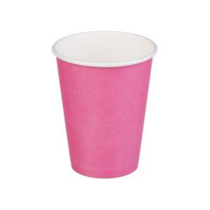 Papirnat kozarec 1 sl, 300 / 364 ml, d = 90 mm za vroče, roza (50 kos/pak)