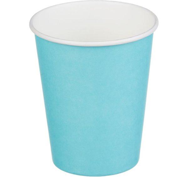 Papirnat kozarec 250 ml d=80 mm 1-slojni turkizna (50 kos/pak)