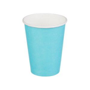 Papirnat kozarec 1 sl, 300 / 364 ml, d = 90 mm, za vroče, turkizna (50 kos/pak)