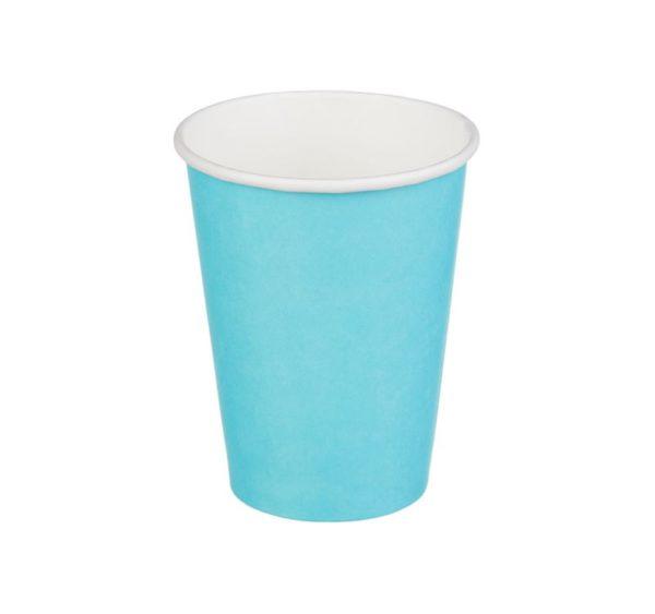 Papirnat kozarec 300 ml d=90 mm 1-slojni turkizna (50 kos/pak)