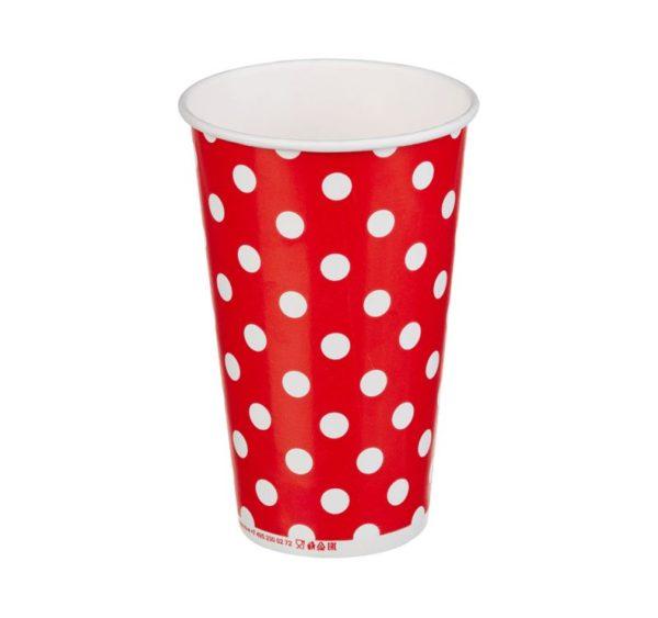 Papirnat kozarec 400 ml d=90 mm 1-slojni Lollipop za hladne napitke (50 kos/pak)