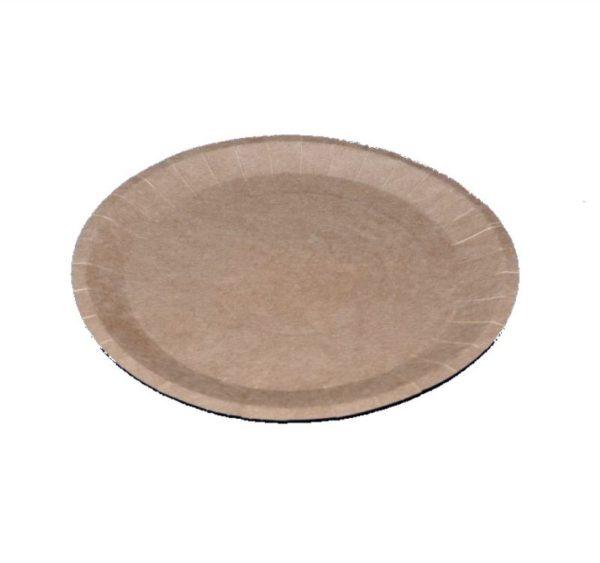 Papirnat krožnik d=180 mm dvostranski kraft (900 kos/pak)