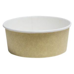 Papirnata posoda, 750 ml, d = 150 mm, h = 60mm, kraft, za solato (50 kos/pak)
