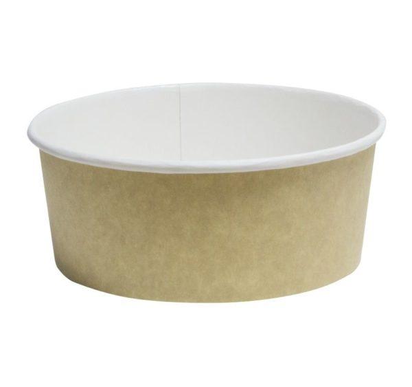 Papirnata posoda za solato 750 ml d=150 mm h=60 mm kraft (50 kos/pak)