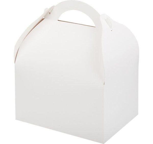 Posoda za torto, sladice 170x130x100 mm bela (90 kos/pak)